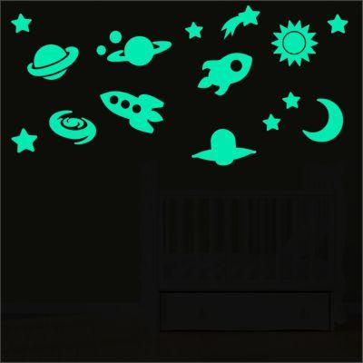 Adesivo Brilha No Escuro Planetas