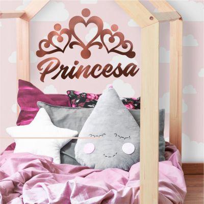 Adesivo Coroa Princesa Rose Gold