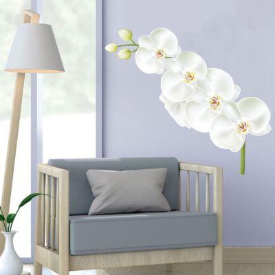 Adesivo de Parede Orquídea Branca