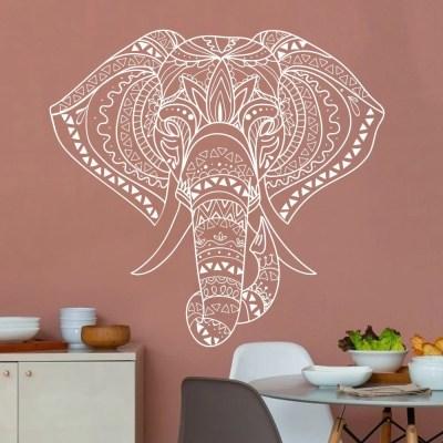 Adesivo de Parede Mandala Elefante