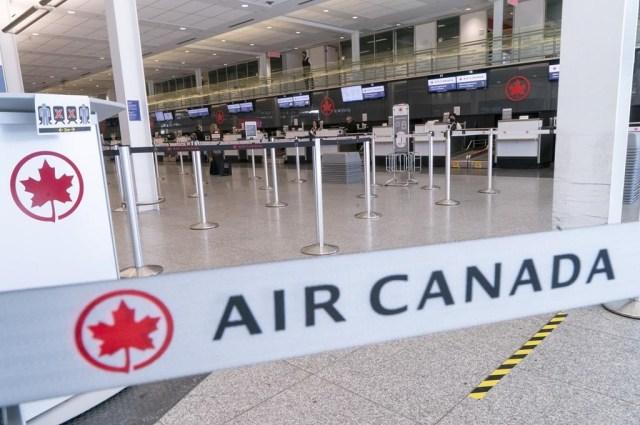 Air Canada suspende más vuelos y despide temporalmente a 1.500 empleados