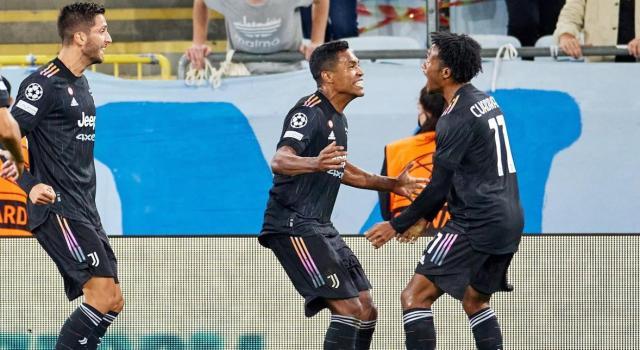 Cuadrado fue titular en goleada de la Juventus en la Champions
