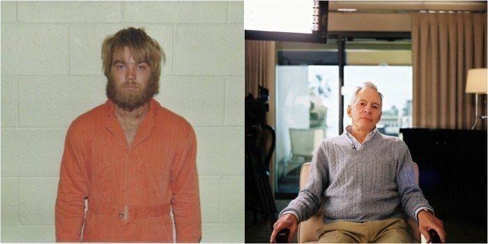 A la izquierda, Steve Avery en prisión 18 años por un crimen que no cometió. A la derecha, el multimillonario Robert Durst, protagonista de The Jinx.