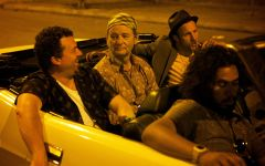 "This photo provided by Open Road Films shows, Danny McBride, from left, as Nick, Bill Murray as Richie Lanz, and Scott Caan as Jake, in ""Rock the Kasbah."" The movie opens in U.S. theaters Oct. 23, 2015. (Kerry Brown/Open Road Films via AP)"