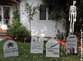 Verwandlung eines Gartens in einen Friedhof