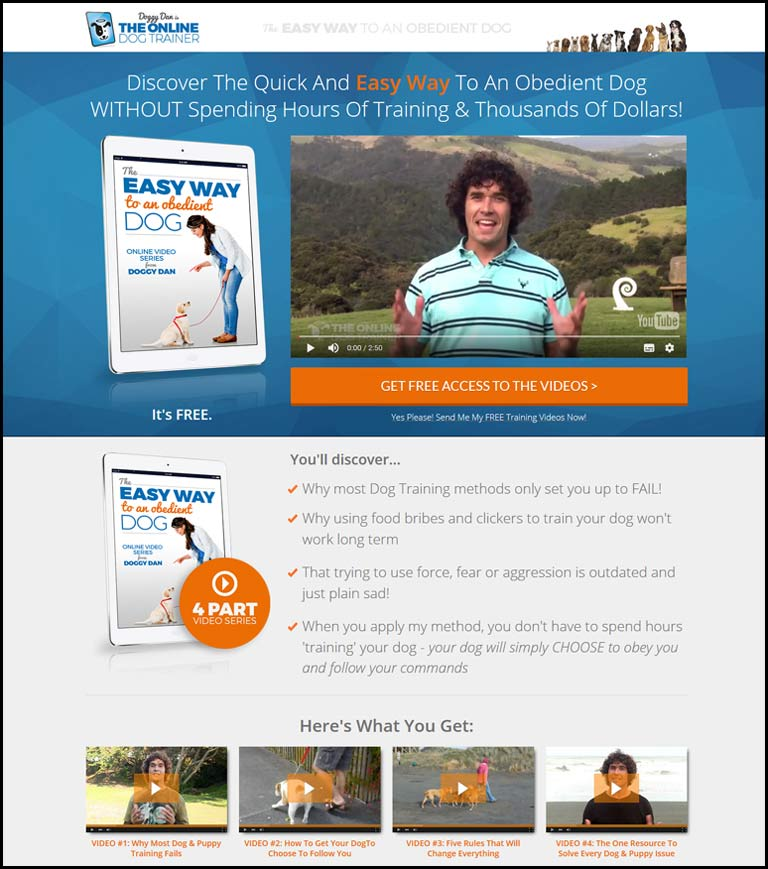 Visit Doggy Dan's website to discover how to stop your dog barking