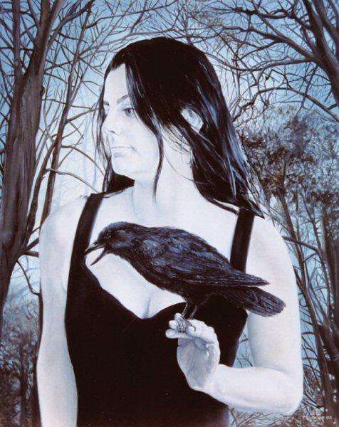 Portret van Anja Mahler, olieverf op paneel, 41x51cm
