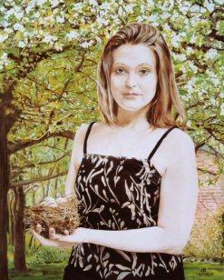 Portret van Dorian Francot, olieverf op paneel, 41x51cm