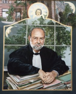 Portret van advokaat C. Van Camp, olieverf op paneel, 70x85cm