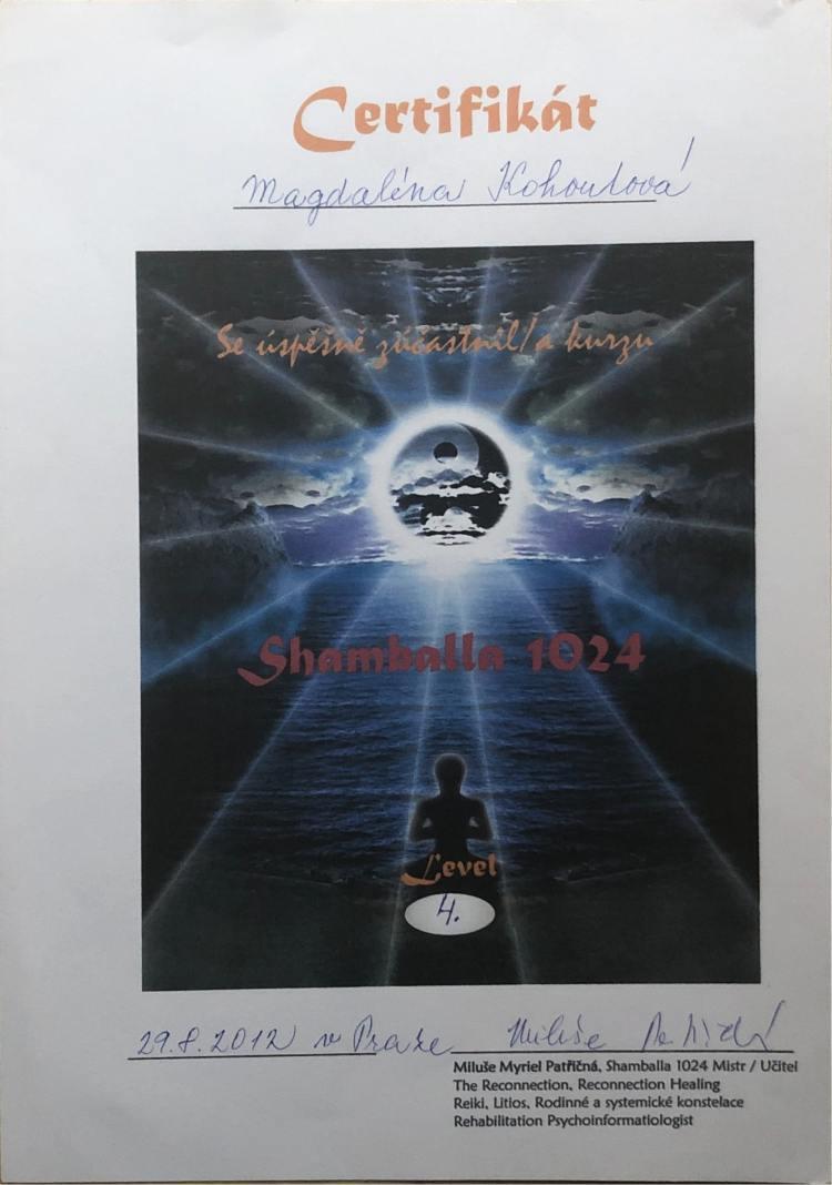 Osvědčení Mistr Shambally
