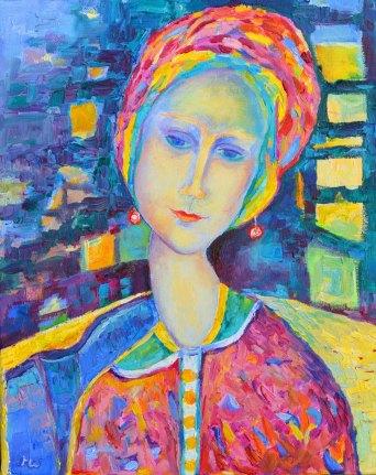 Amedeo Modigliani_obraz olejny_na płótnie_kobieta siedząca w fotelu_autor Magdalena Walulik