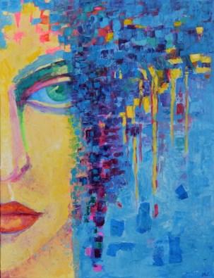 Kobieta portret obraz autorstwo Magdalena_Walulik_malarstwo współczesne_technika olej na płótnie