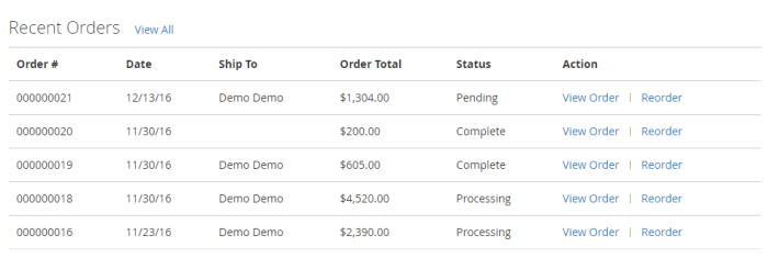 Account Dashboard - Magento 2 Multi Vendor Theme
