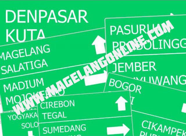 peta mudik magelang online 2014