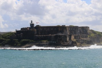 Fuerte San Felipe del Morro. Constructed in 1540 to protect Old San Juan from pirates. It stands at the mouth of the harbor: Bahia de San Juan.