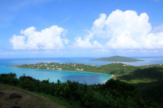 Magens Bay, St. Thomas, U.S. Virgin Islands. Hans Lollik Island in the distance.