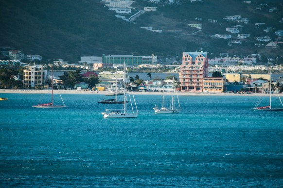 Sailing Into Philipsburg, capital of St. Maarten