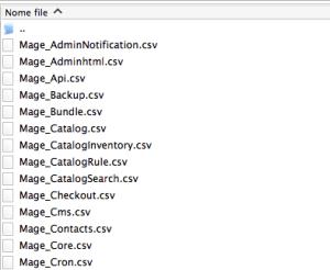 lista file csv