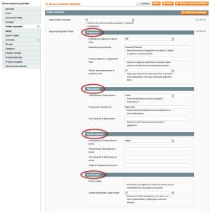 profili ricorrenti prodotti virtuali