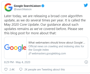 google-aggiornamenti