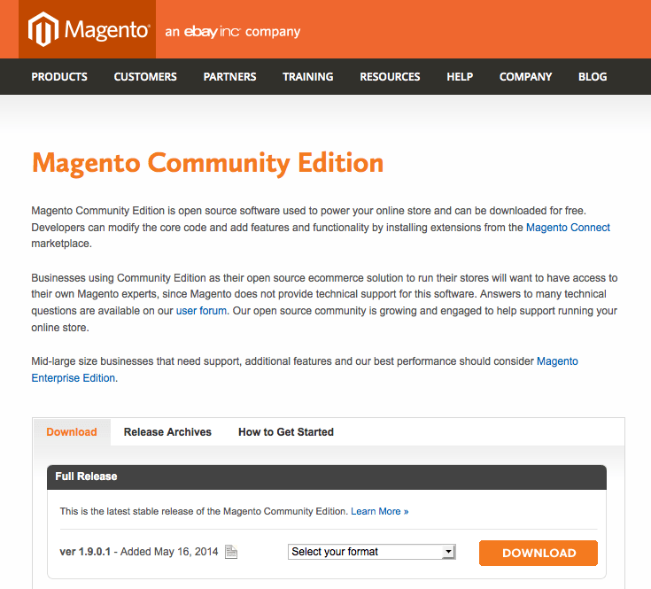 Magento Community Download