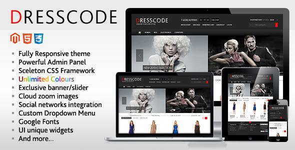 Tema responsive per Magento: DressCode