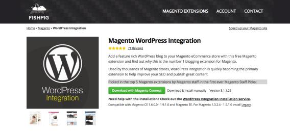 modulo fishpig integrazione wordpress magento