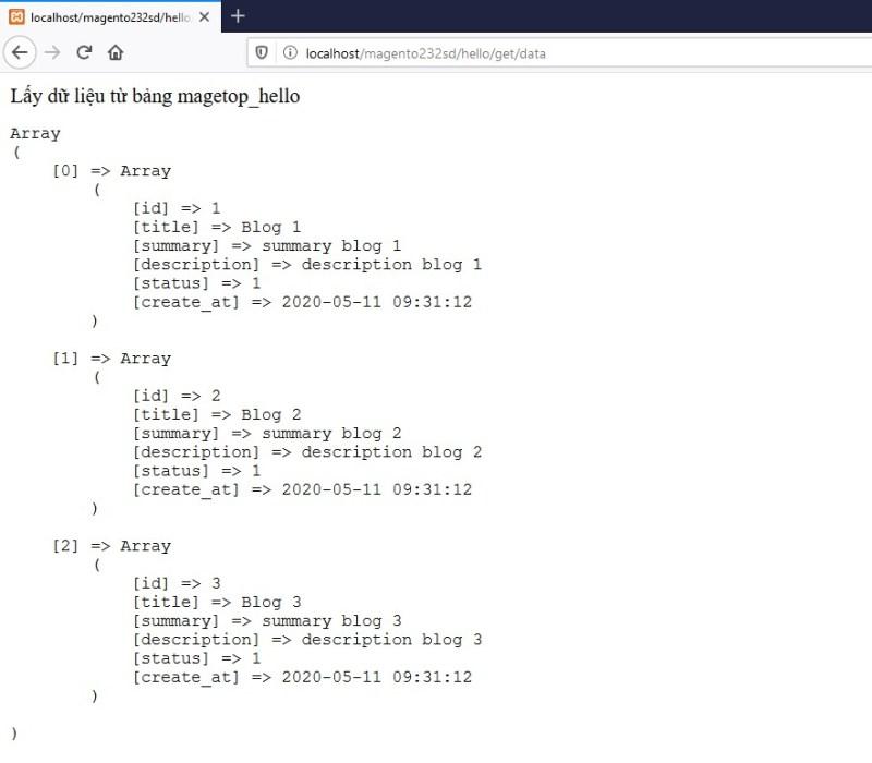 show dữ liệu bảng magetop_hello