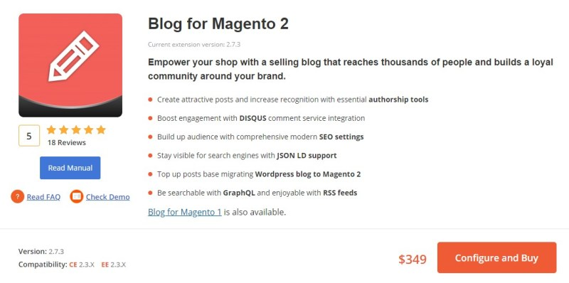 Blog for Magento 2 by Aheadworks