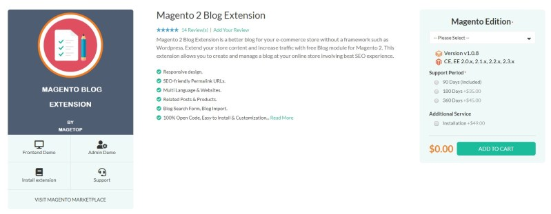 Magento 2 Advanced Blog Extension by Magetop