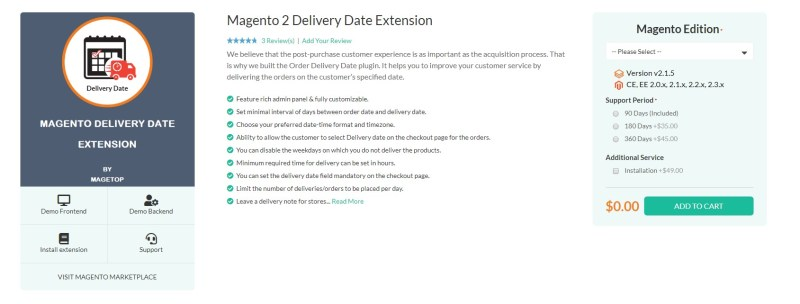 Magento 2 Delivery Date Extensions by Magetop