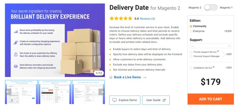Magento 2 Delivery Date Extensions by Amasty