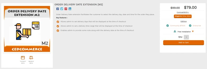 Magento 2 Delivery Date Extensions by CED