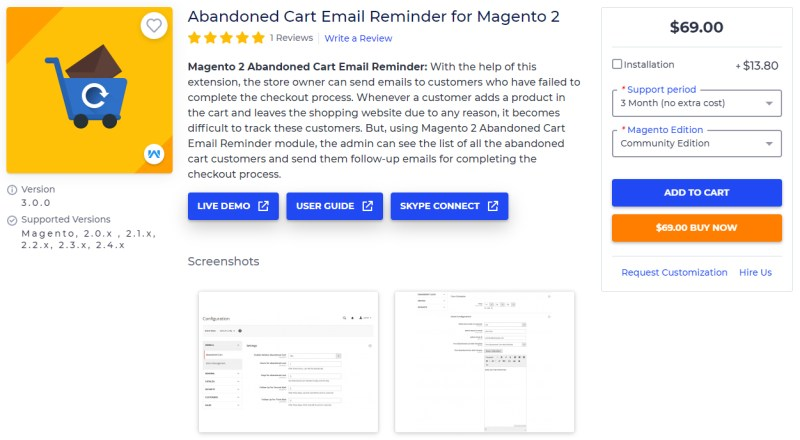 Abandoned Cart Email Reminder for Magento 2 - Webkul