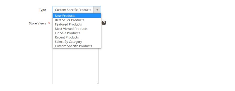 15. Type of Product will display in slider