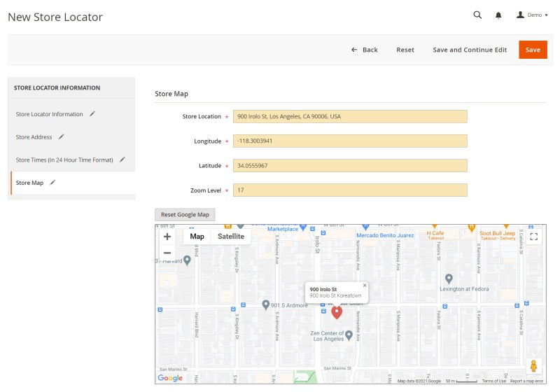 Fill in the exact location of your store
