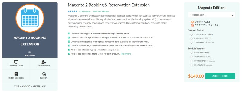 Magetop Booking & Reservation Extension