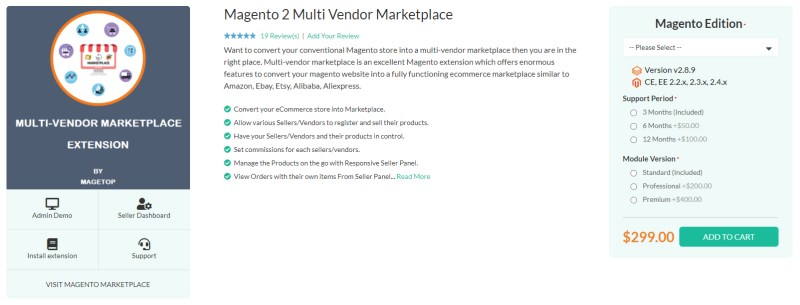 Magetop Multi Vendor Marketplace Extension