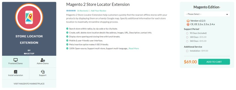 Magetop Store Locator Extension