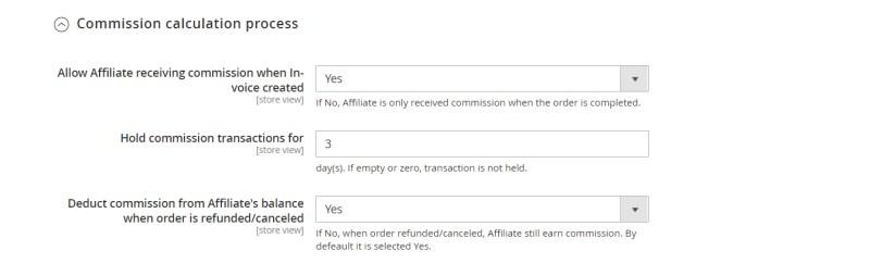 Commission calculation process (Commission Configuration)
