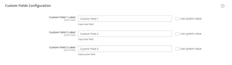Custom Fields Configuration