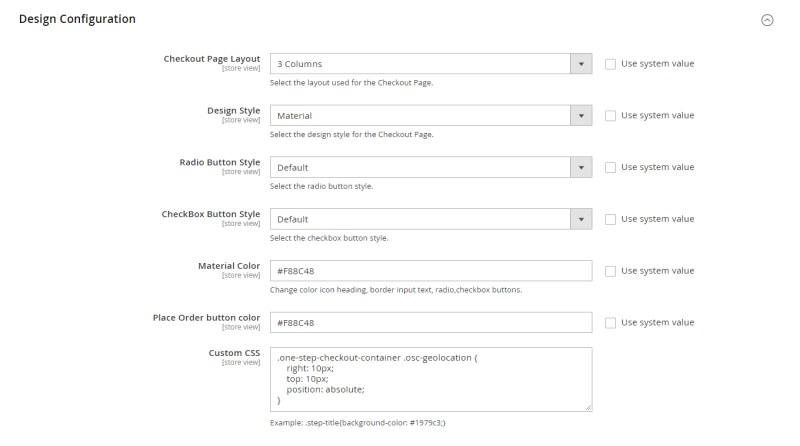 Design Configuration