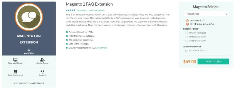 Magetop FAQ Extension