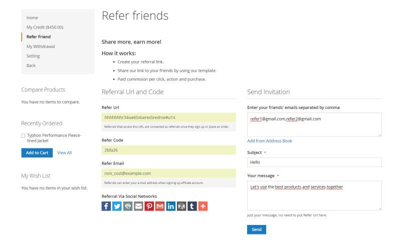 Refer Friend Page