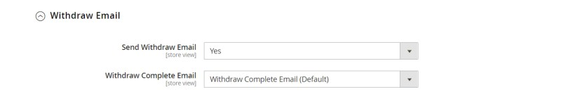 Withdraw Email (Email Configuration)