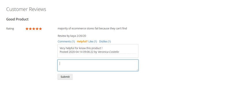 Users can reply to the customers' reviews and users can reply further to your comments