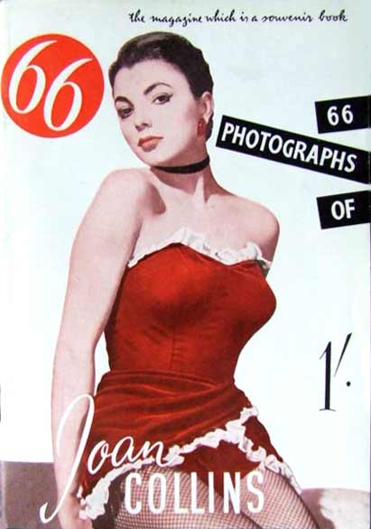 Joan Collins on the cover of 66