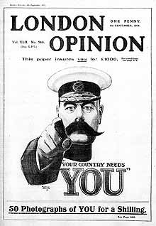 Alfred Leete's 'Your Country Needs You' London Opinion cover inspired a Great War advertising campaign