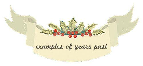 Examplesofyearspast