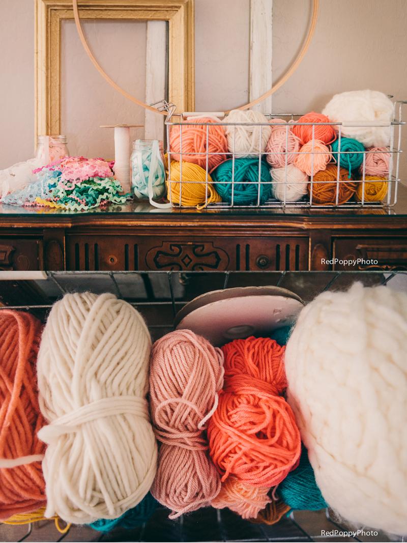 Maggie Holmes Be Crafty Yarn Table 2